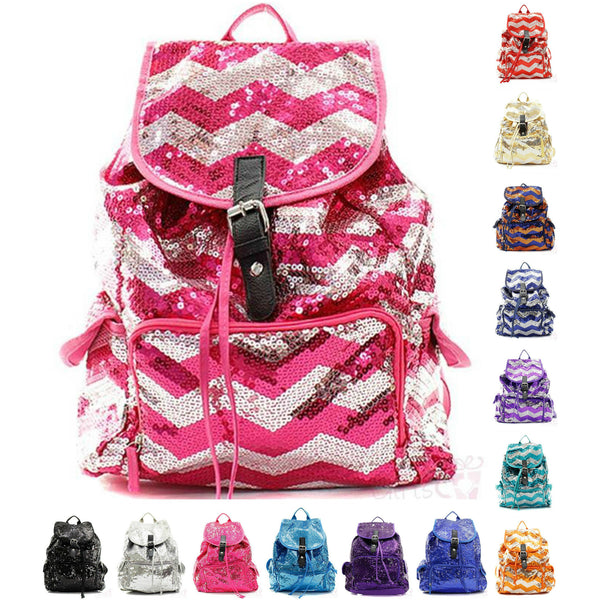 Cute Sequin Backpack Drawstring Knapsack Bookbag