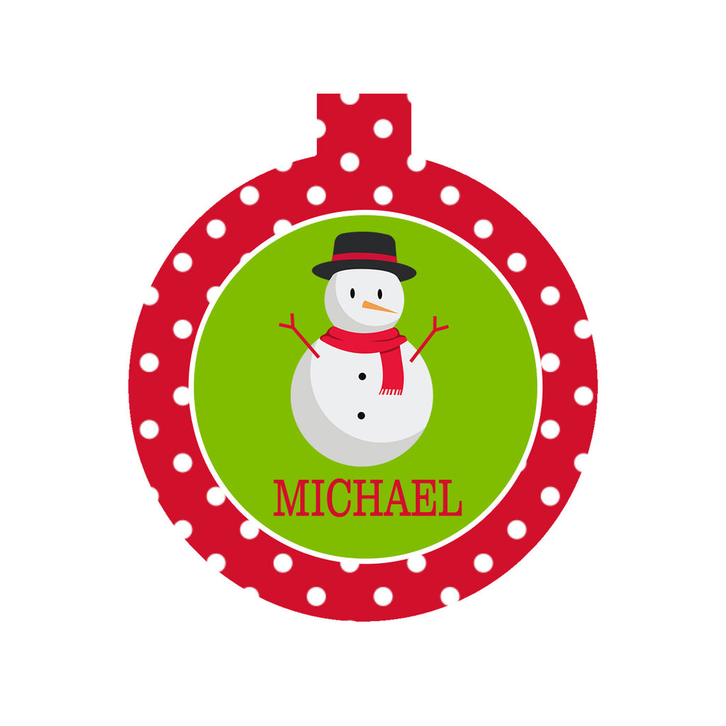 Personalized Round Christmas Ornaments