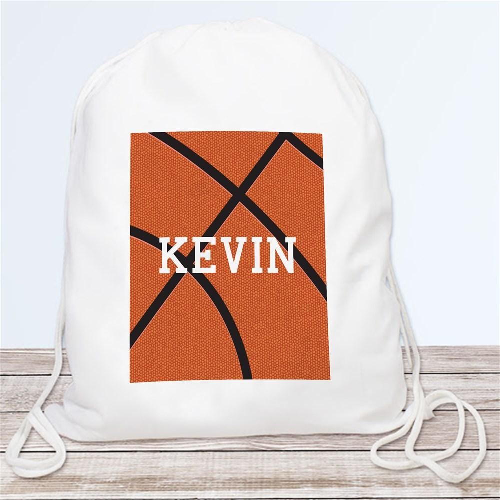 Personalized Basketball Drawstring Bag