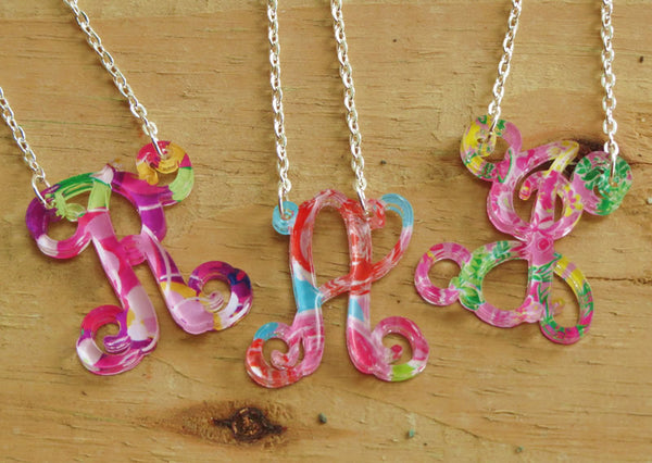 Personalized Floating Single Letter Vine Necklace - Gifts Happen Here - 1