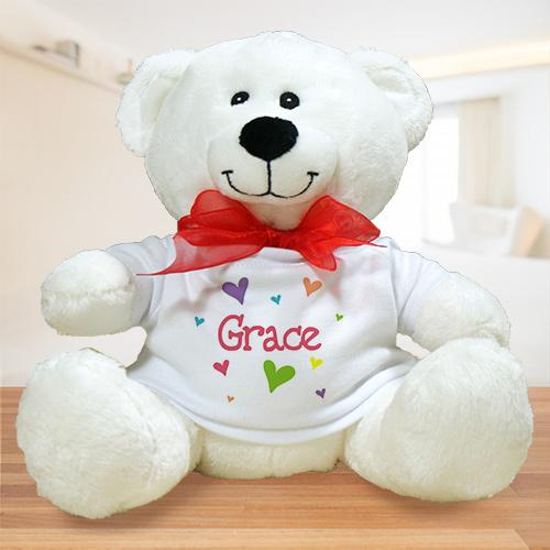 Personalized All Heart Plush Teddy Bear - Valentine's Day Gift