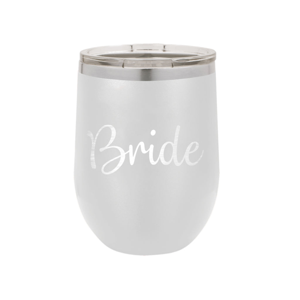 Bride White 12oz Insulated Tumbler