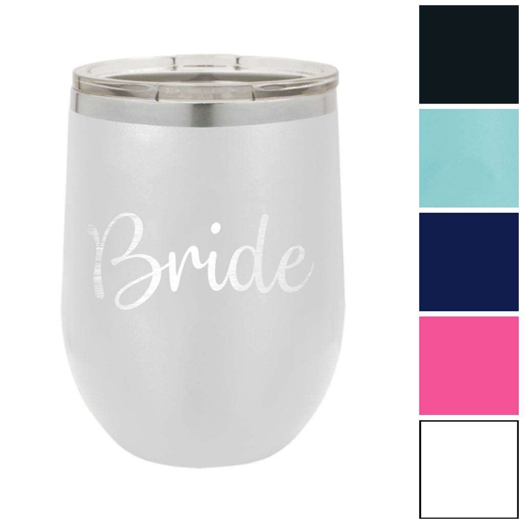 Bride 12 oz. Insulated Stainless Steel Wine Tumbler