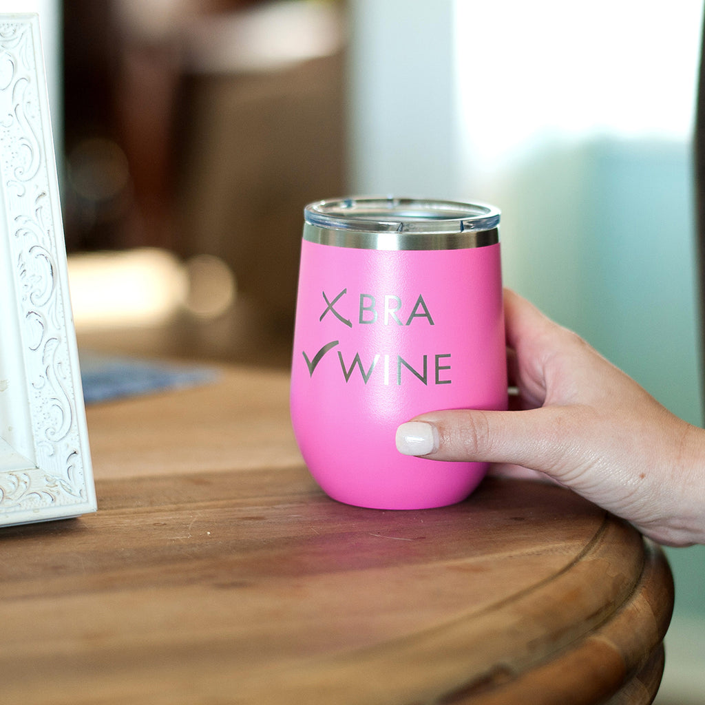 Fight like a Girl Pink Tumbler - Breast Cancer Awareness - Pink Ribbon