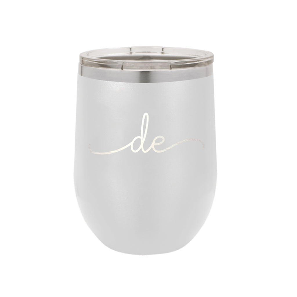 Delaware Rep Your State White 12oz Insulated Tumbler