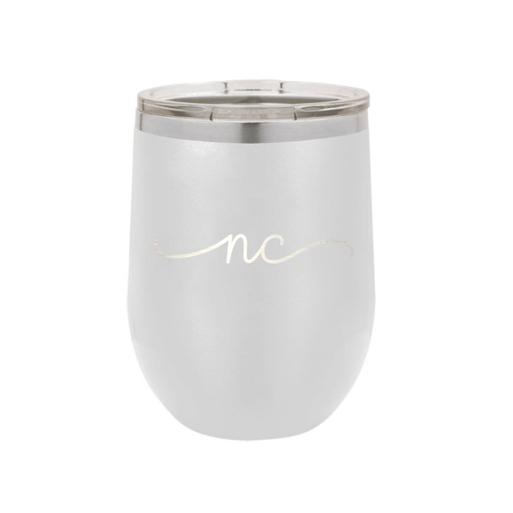 North Carolina Rep Your State White 12oz Insulated Tumbler