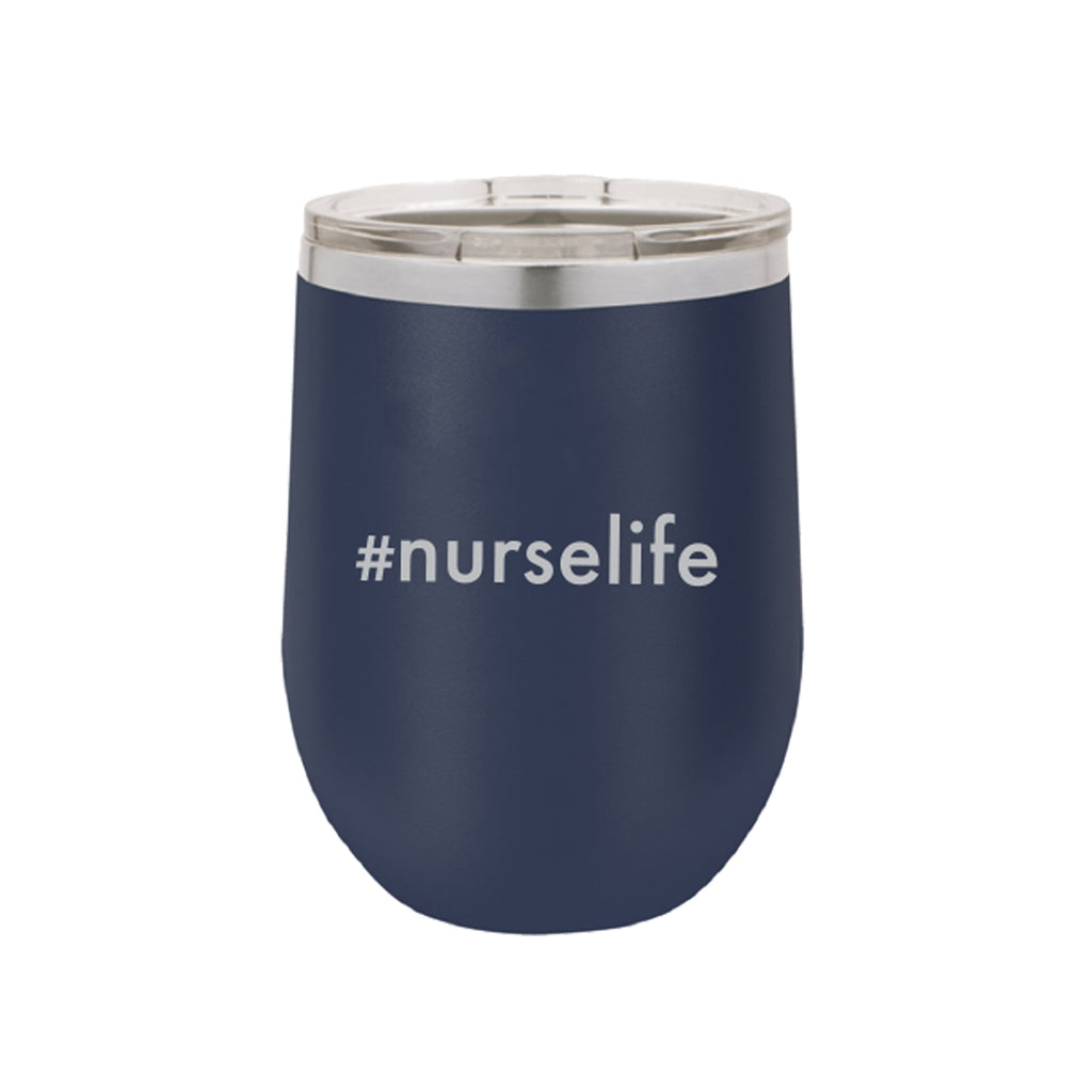 #nurselife 12oz Navy Tumbler