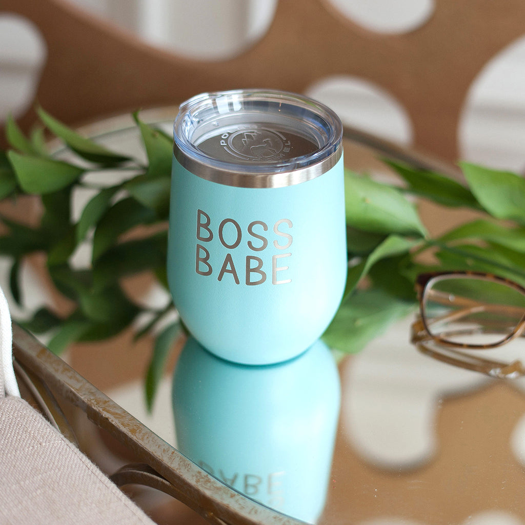 Teal Boss Babe 12oz Insulated Tumbler