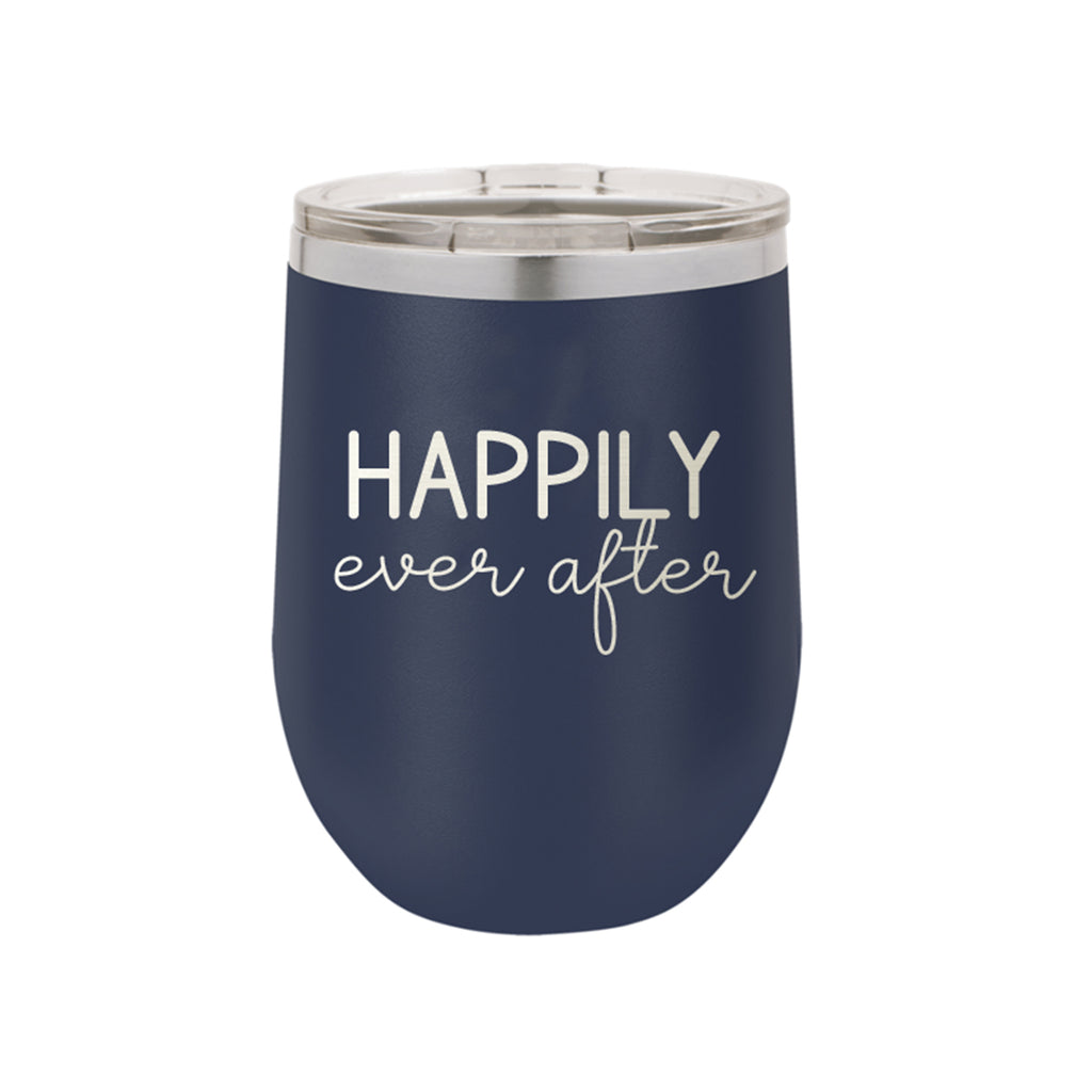 Navy Happily Ever After 12oz Insulated Tumbler