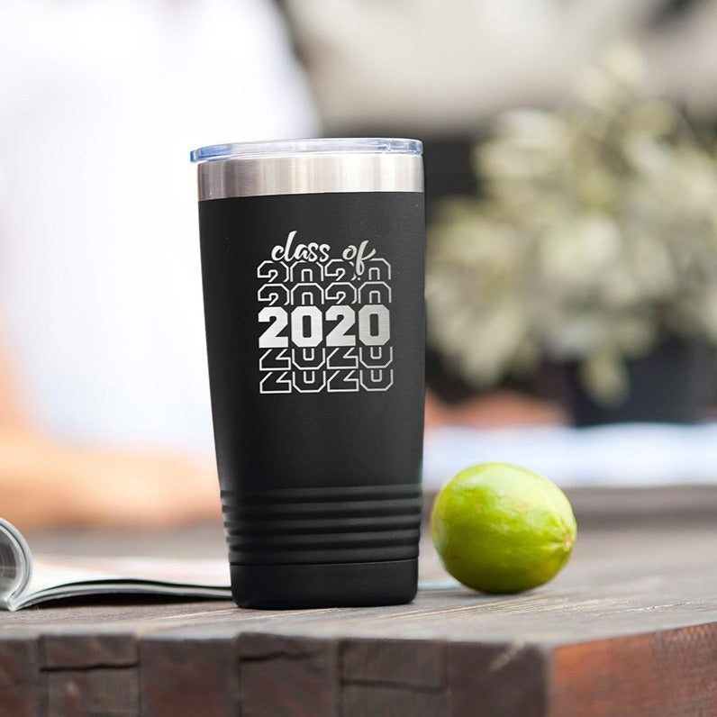 Black Class of 2020 20oz Insulated Tumbler