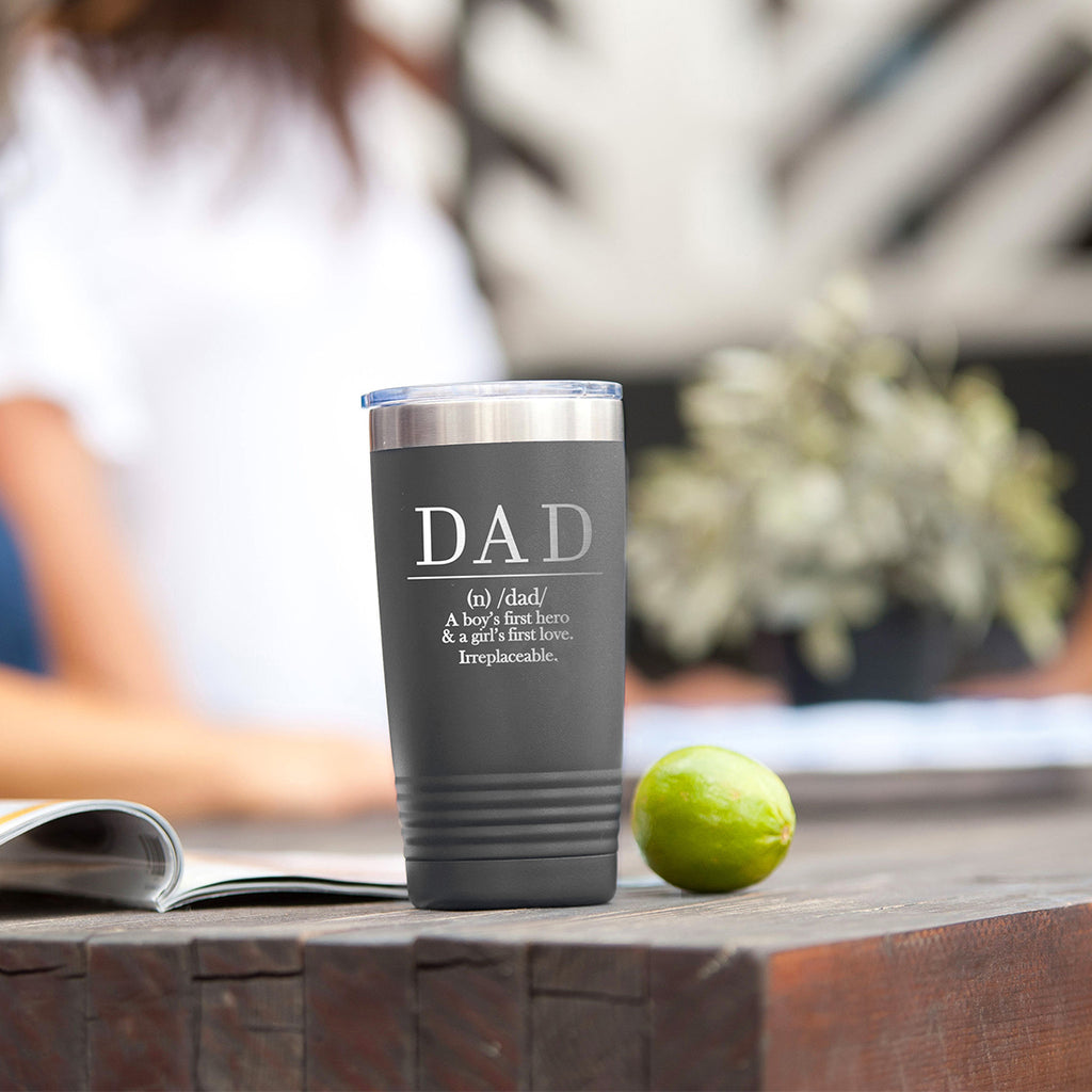 Definition of Dad Grey 20oz Insulated Tumbler