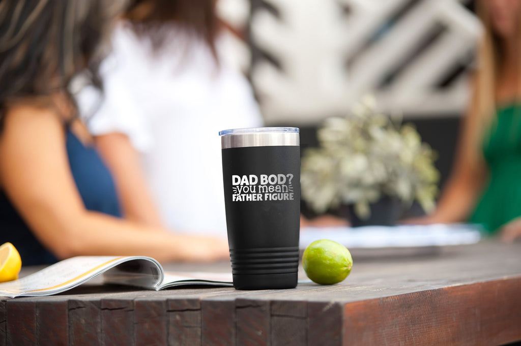 Dad Bod Black 20oz Insulated Tumbler