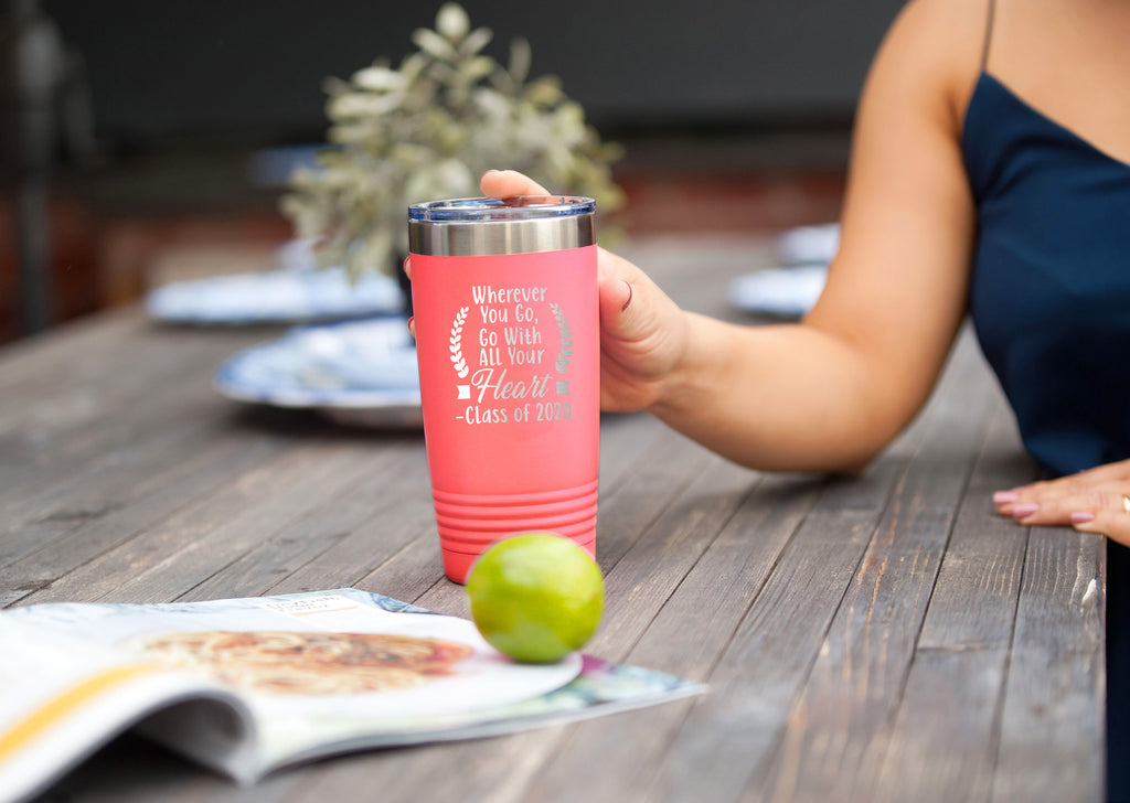 Coral Wherever You Go 2020 20oz Insulated Tumbler