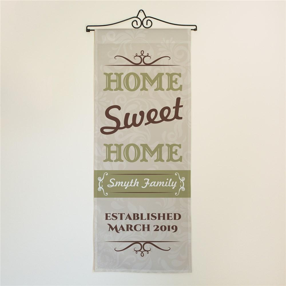 Personalized Home Sweet Home Door Banner
