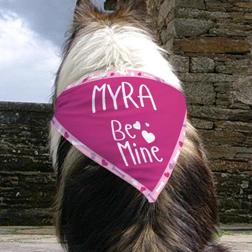 Personalized Be Mine Dog Bandana - Valentine's Day Gift