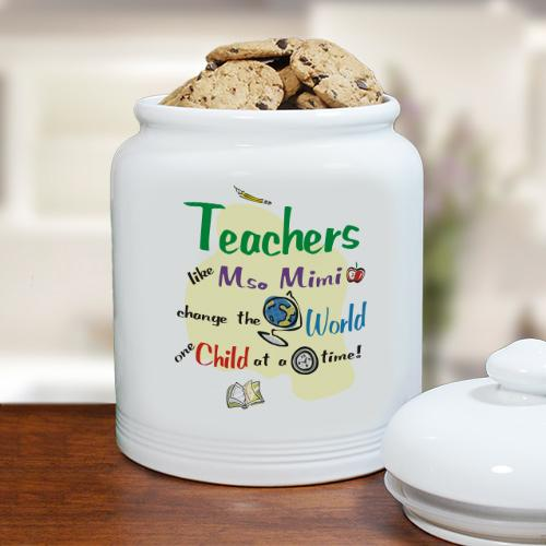 Personalized Change The World Ceramic Cookie Jar