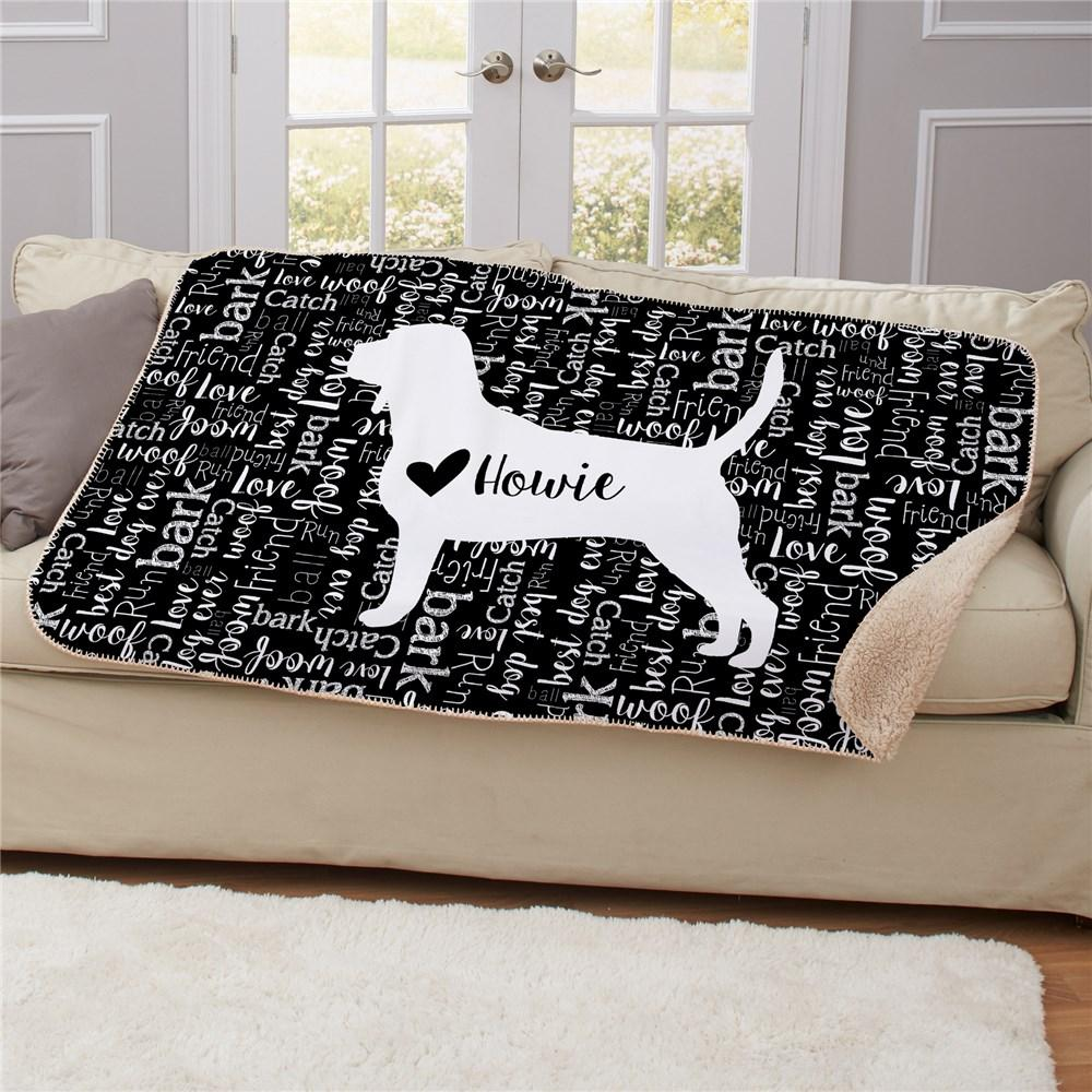 Personalized Dog Breed Sherpa Throw