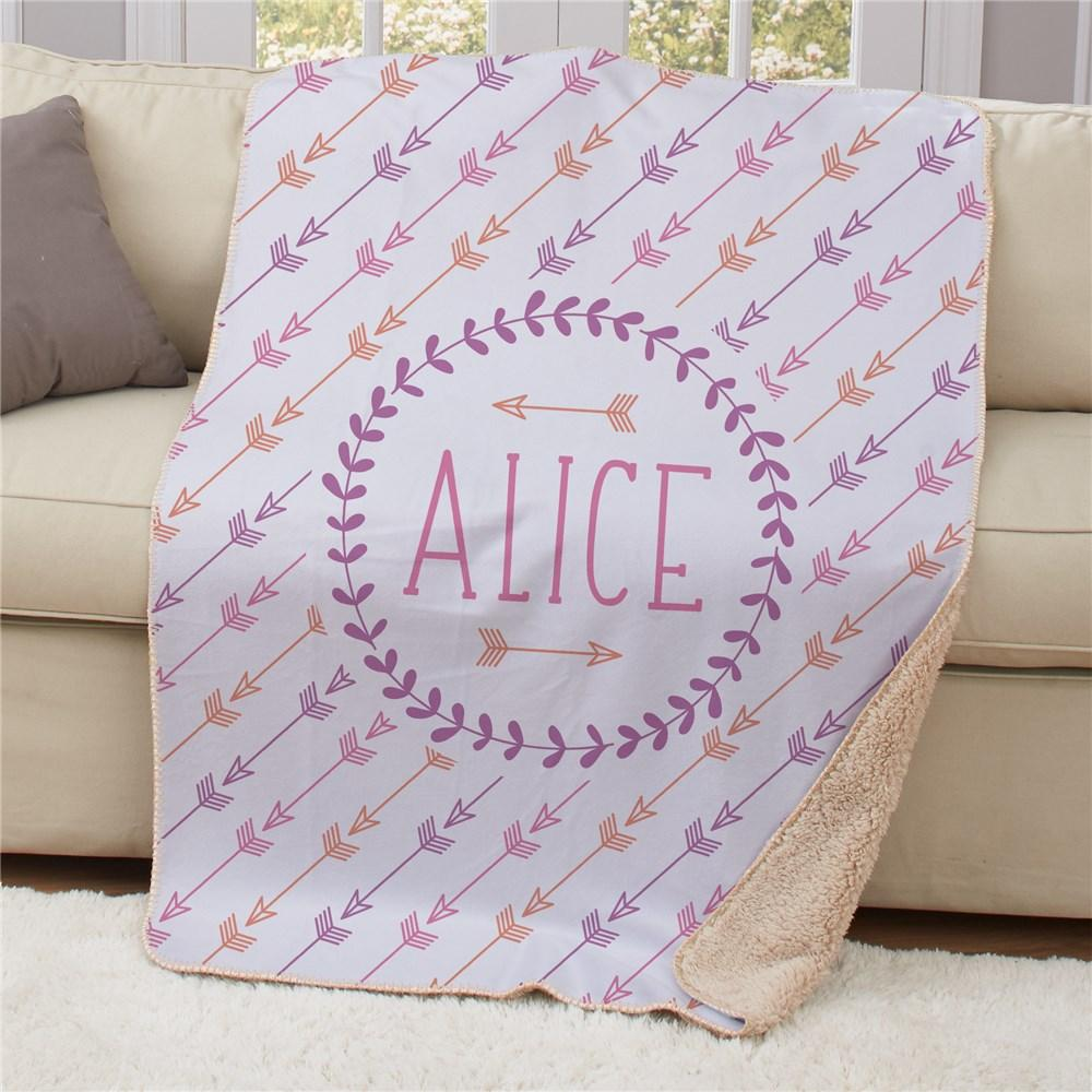 Personalized Arrows Sherpa Blanket 50X60 - Valentine's Day Gift