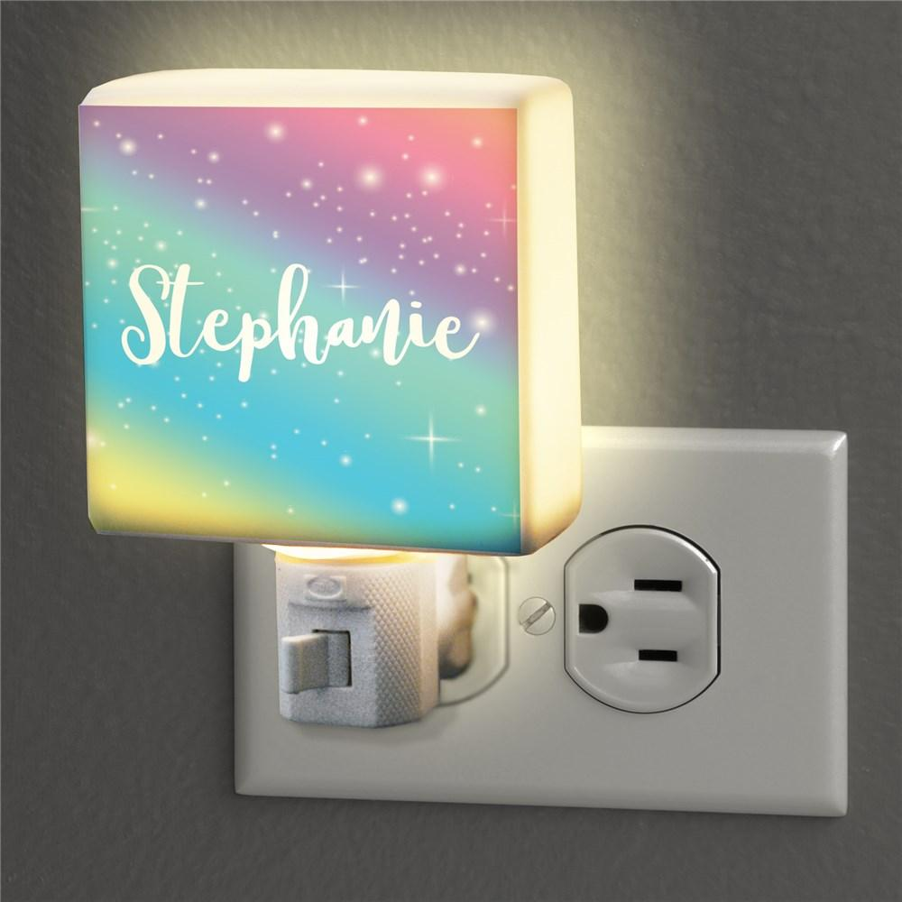 Personalized Rainbow Night Light