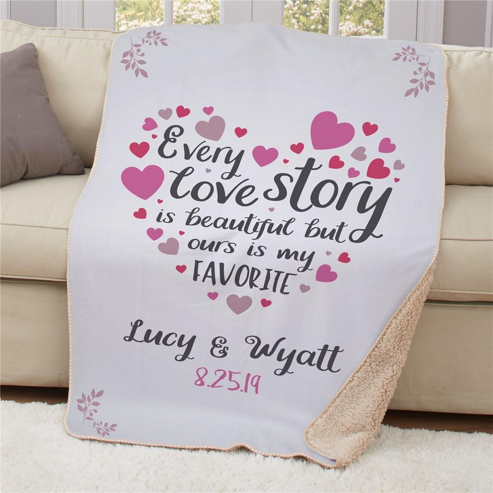 Personalized Every Love story Sherpa Blanket - Valentine's Day Gift
