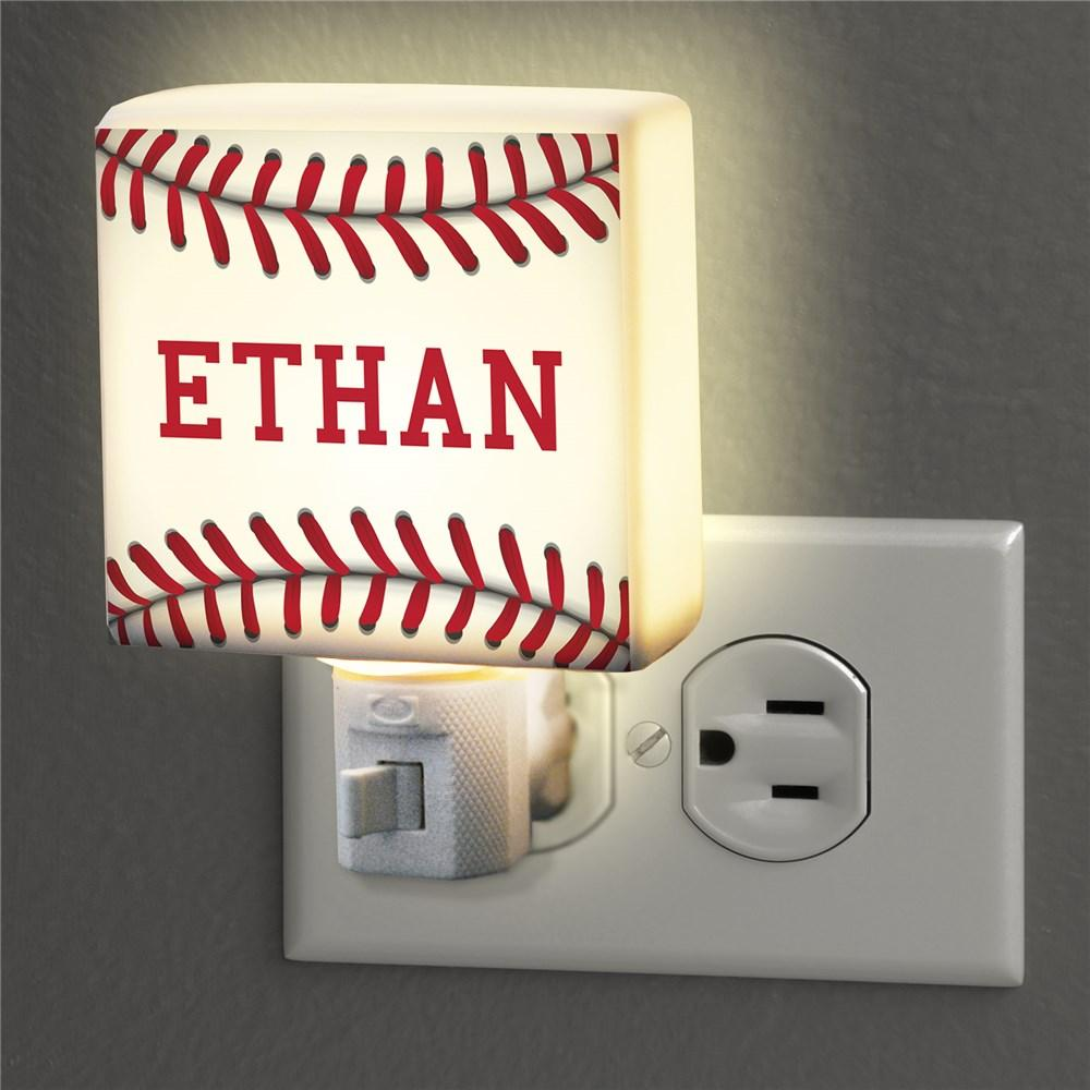 Personalized Baseball Night Light