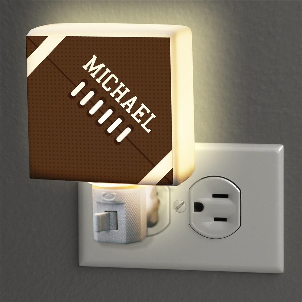 Personalized Football Night Light
