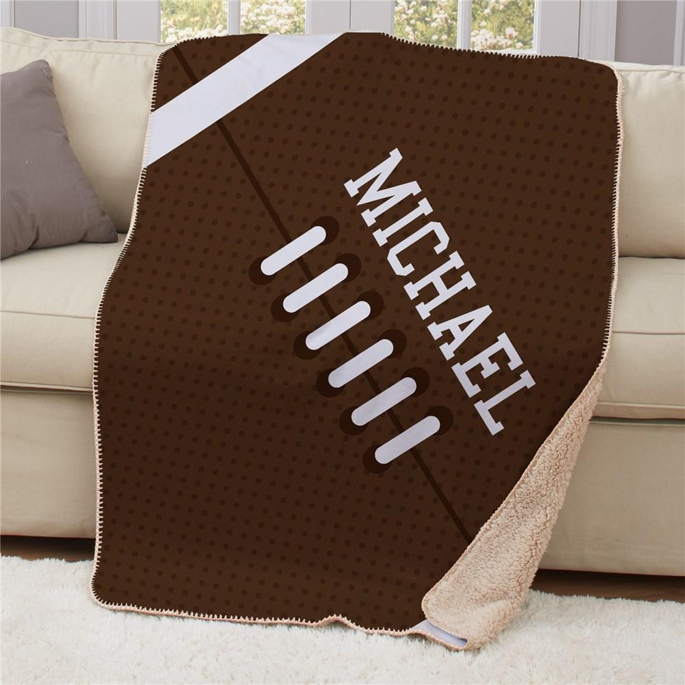 Personalized 50X60 Football Sherpa Blanket