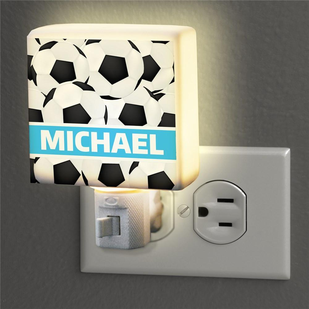 Personalized Soccer Night Light