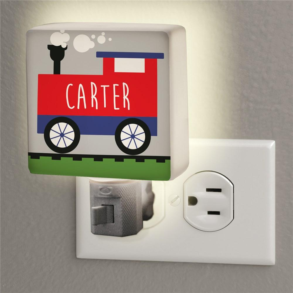 Personalized Single Train Night Light
