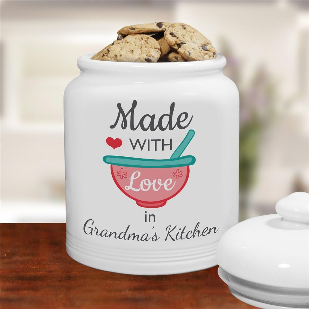 Personalized Made With Love Cookie Jar