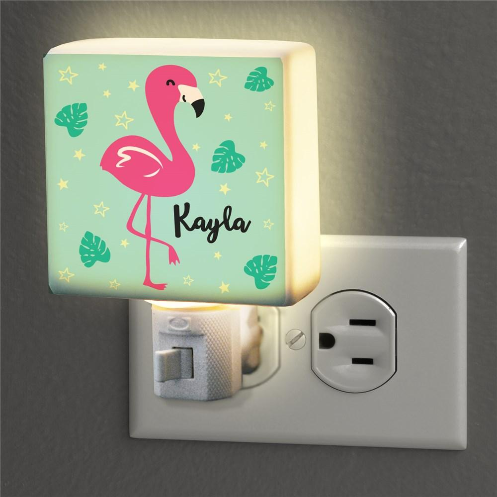 Personalized Flamingo Night Light