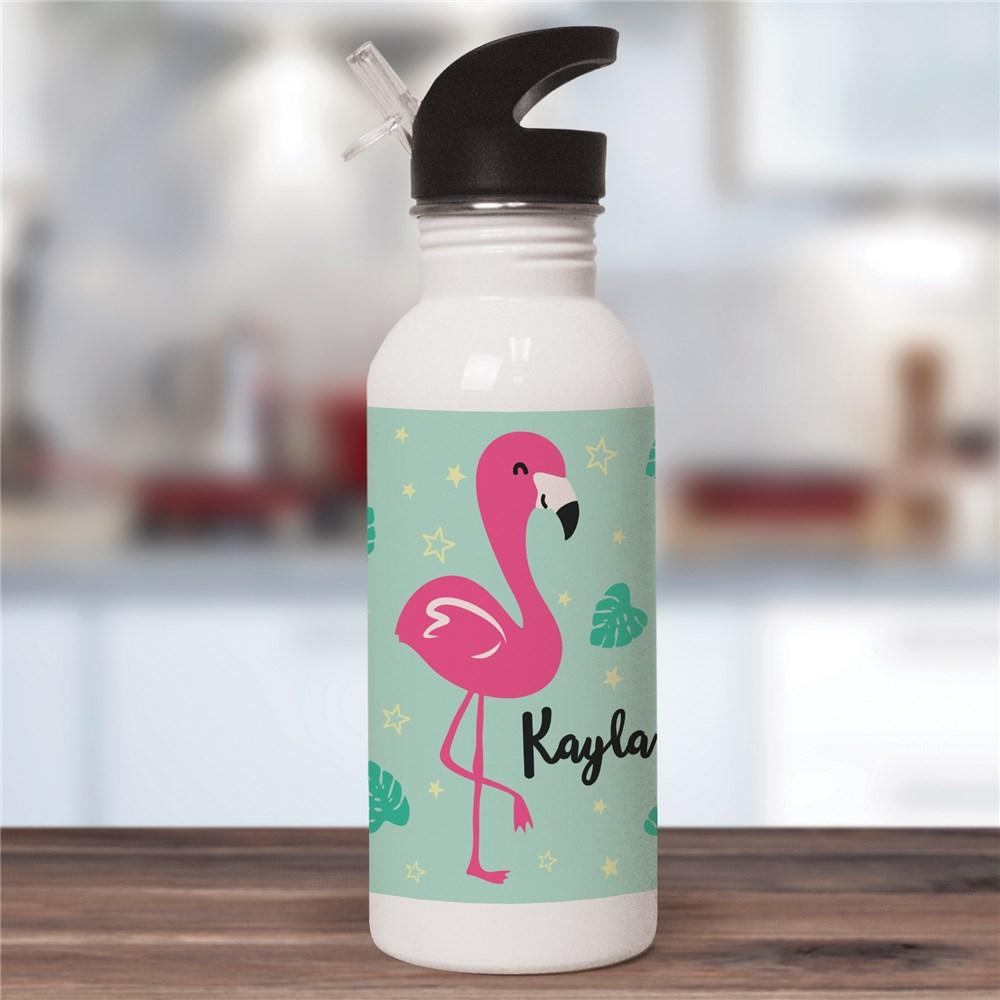 Personalized Flamingo Water Bottle