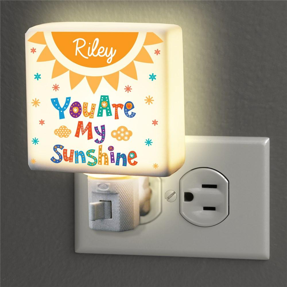 Personalized You Are My Sunshine Night Light