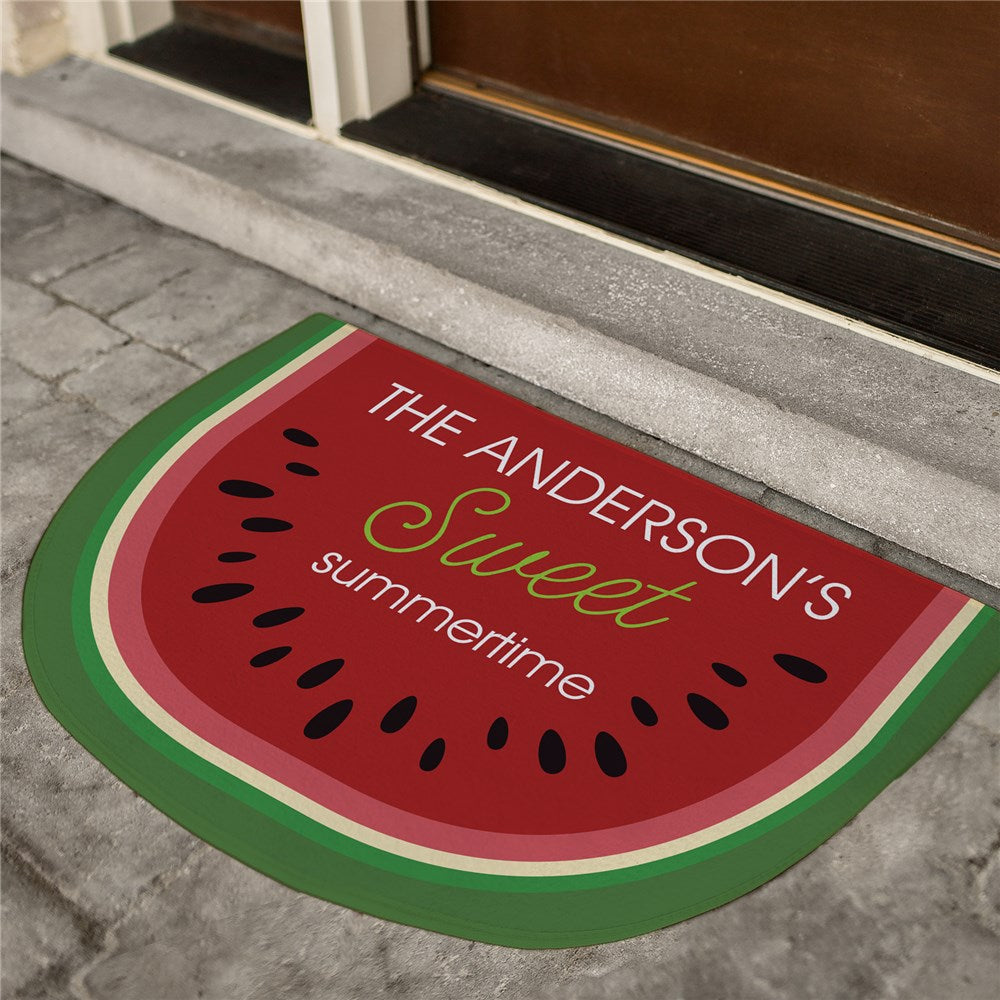 Personalized Sweet Summertime Watermelon Doormat