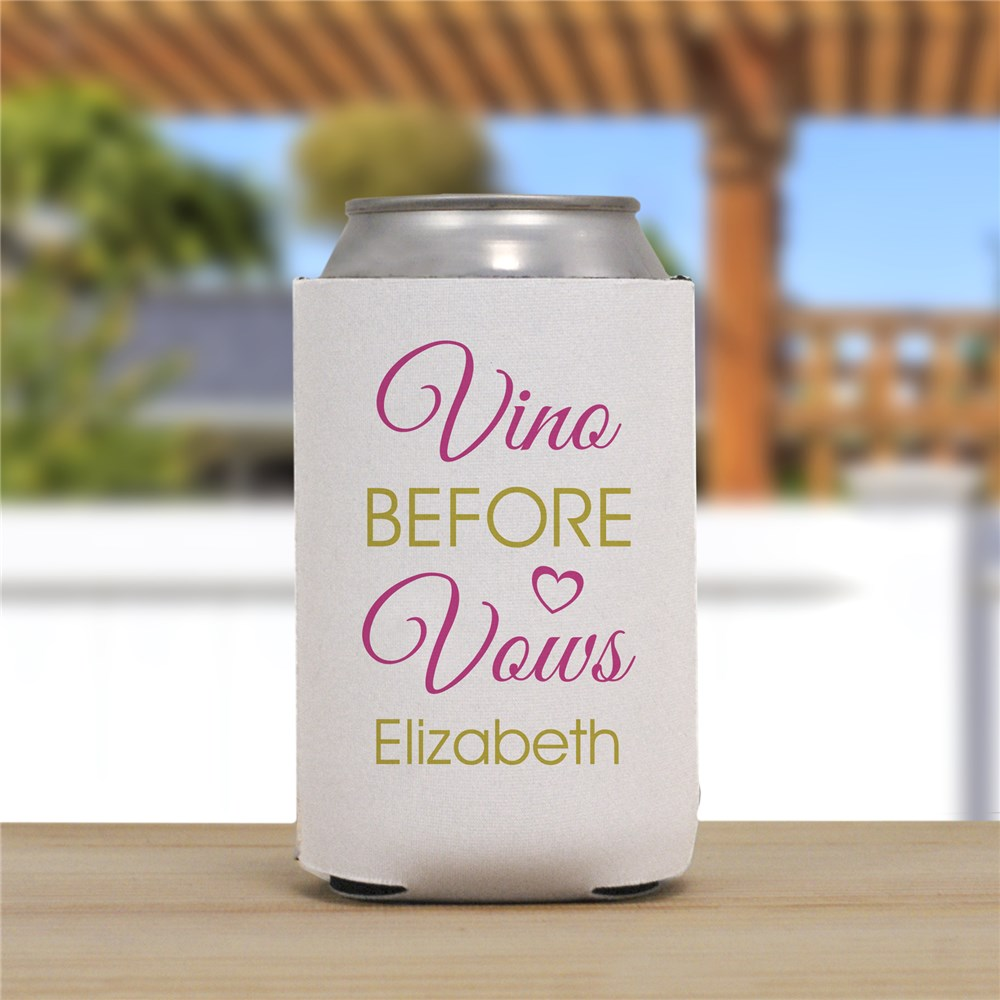 Personalized Vino Before Vows Can Cooler