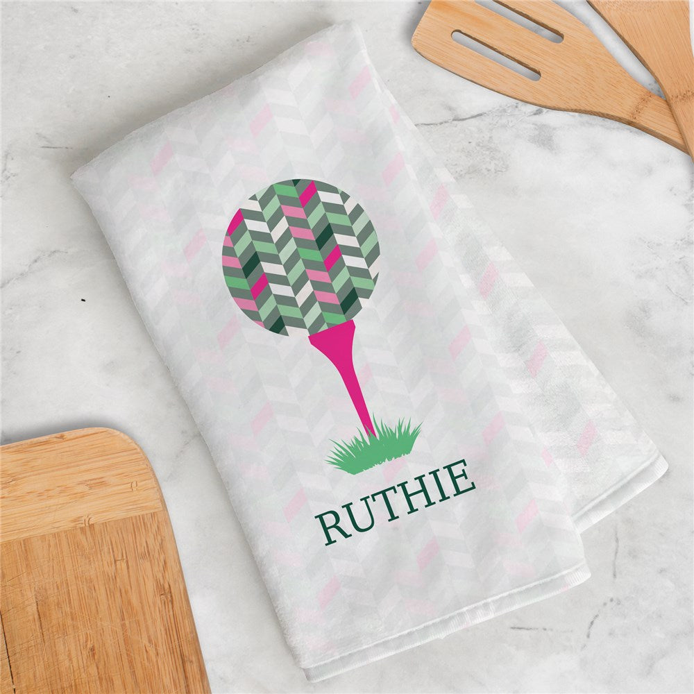 Personalized Women's Colorful Golf Ball Towel
