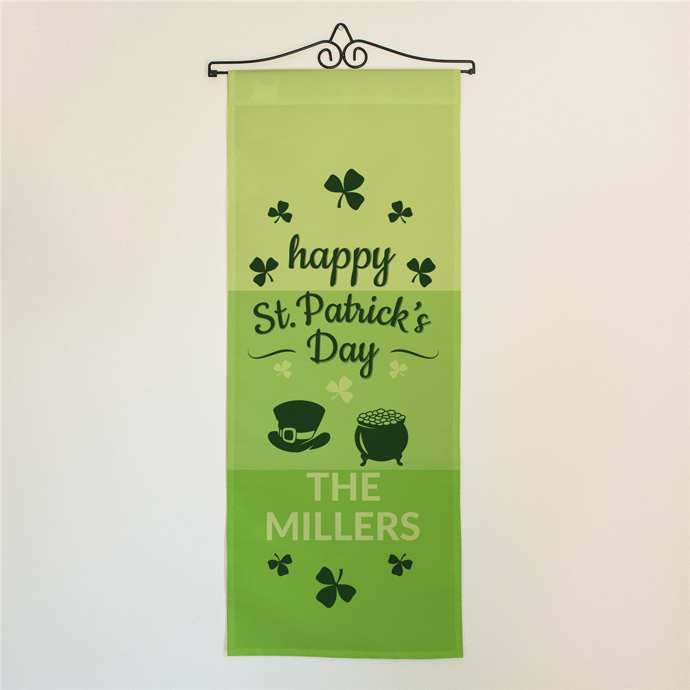 Personalized Happy St. Patrick's Day Wall Hanging