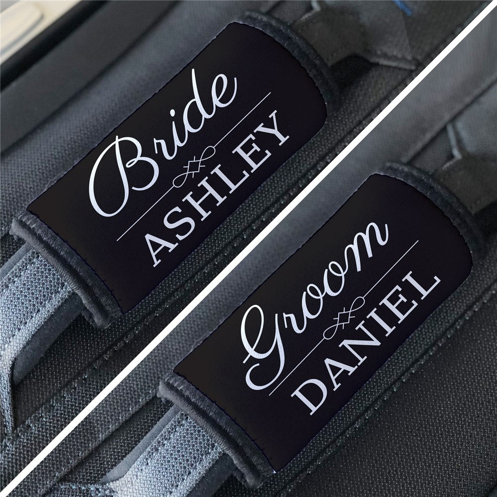 Personalized Wedding Luggage Grip