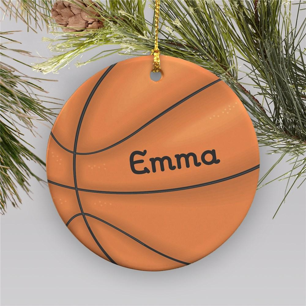 Personalized Basketball Ornament | Ceramic