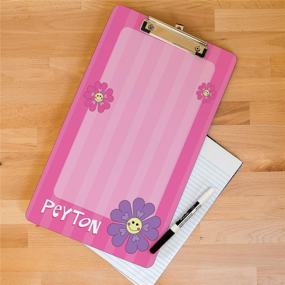 Personalized Flower Clipboard