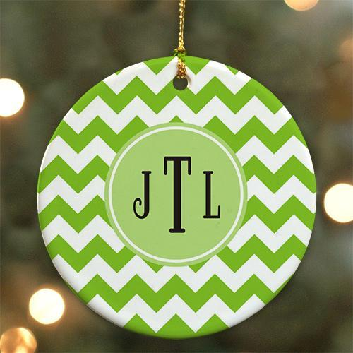 Personalized Monogram Madness Christmas Ornament