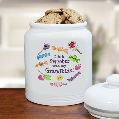 Personalized Life Is Sweeter Cookie Jar