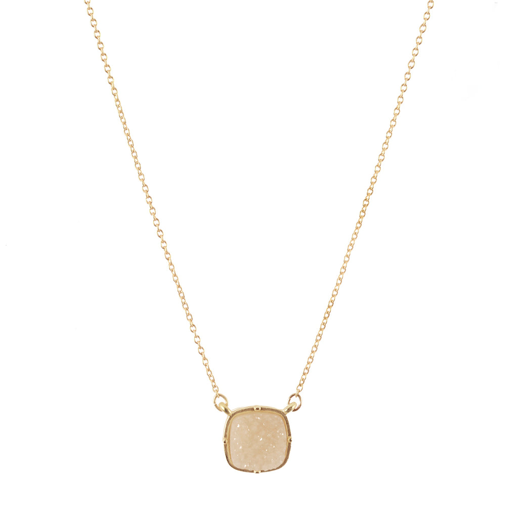 Cream Druzy Necklace