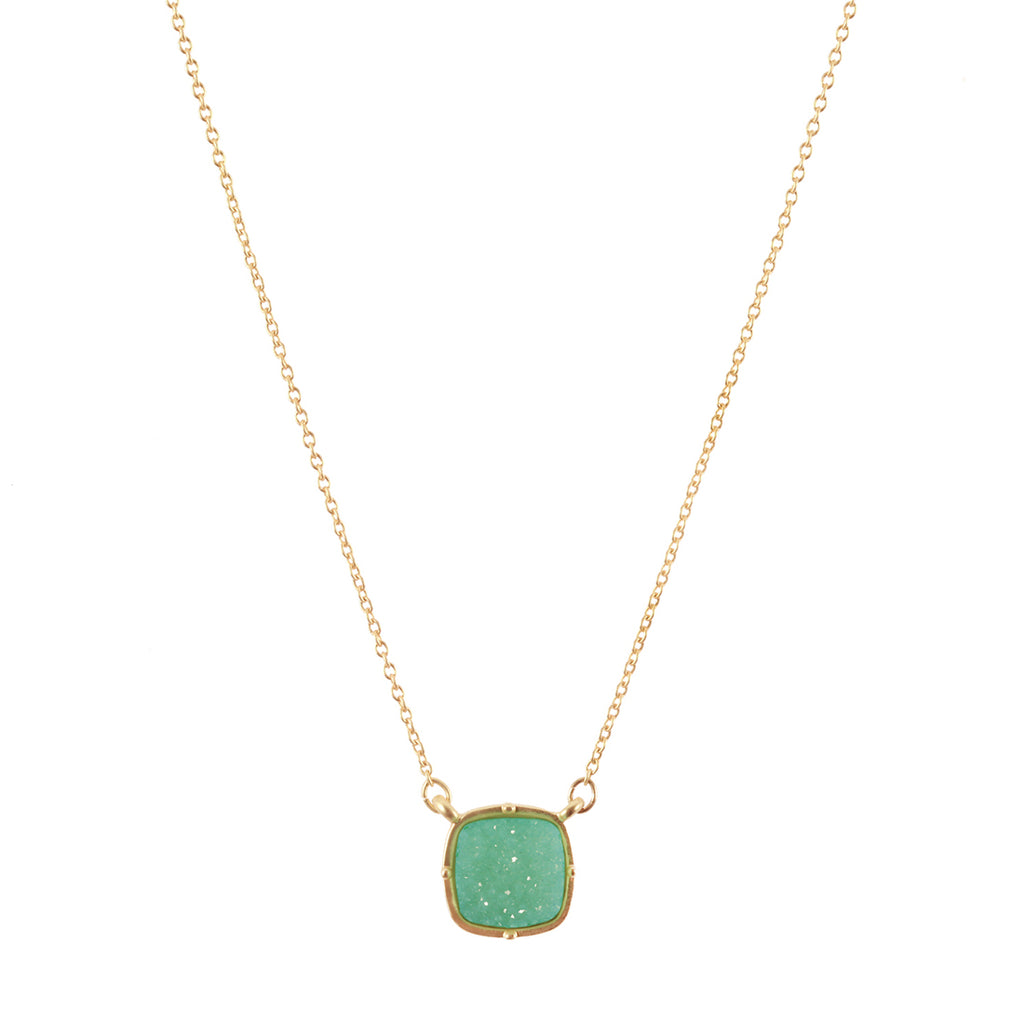Mint Druzy Necklace