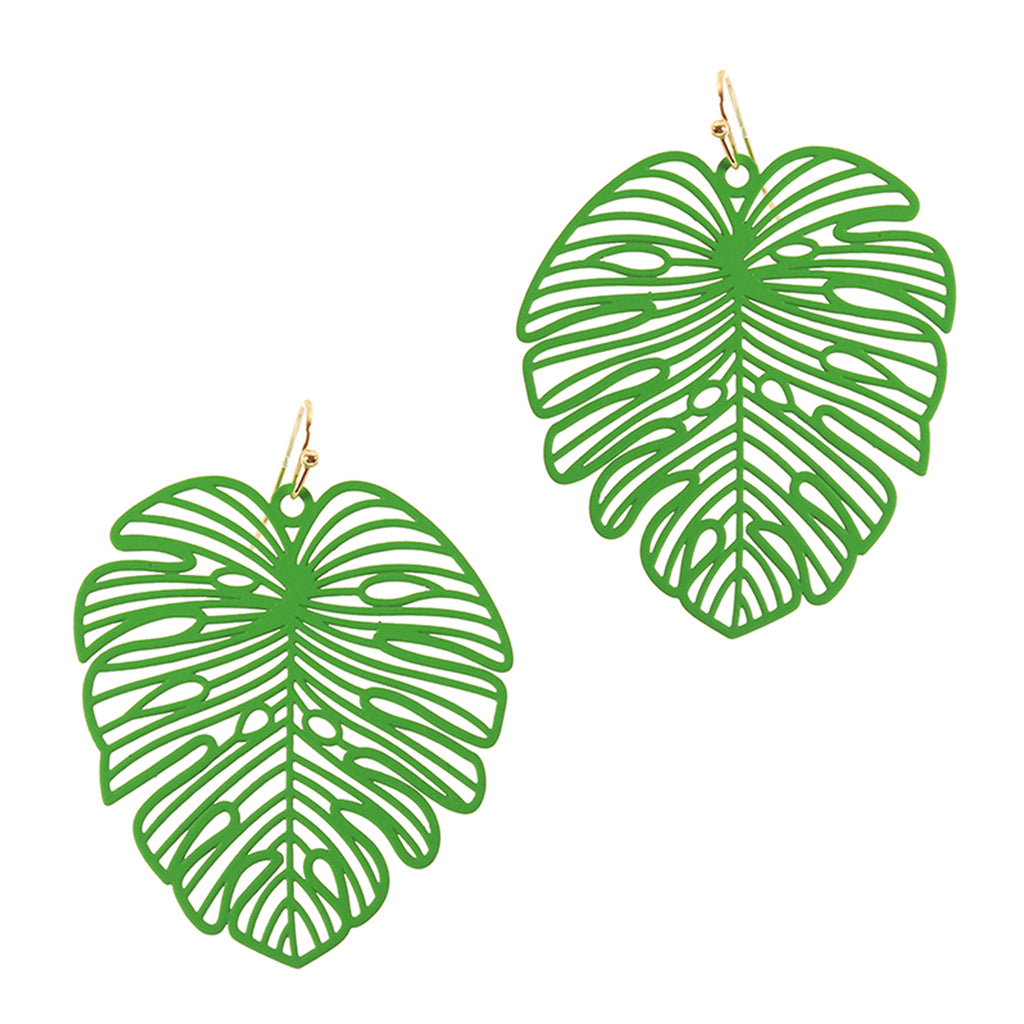 Green Palm Earrings