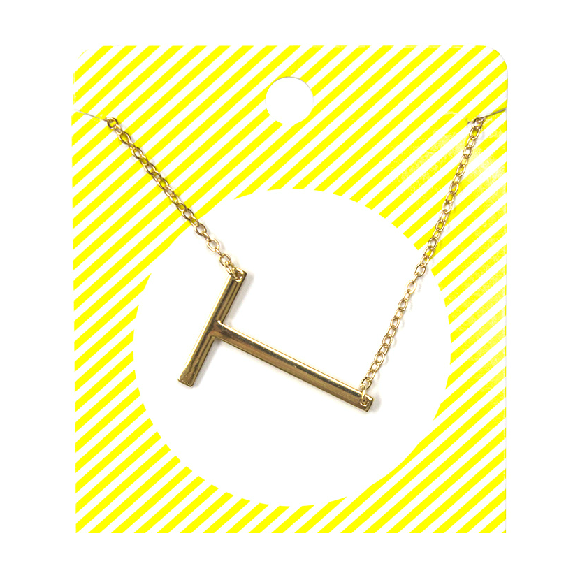 Large Gold Initial Monogram Necklace