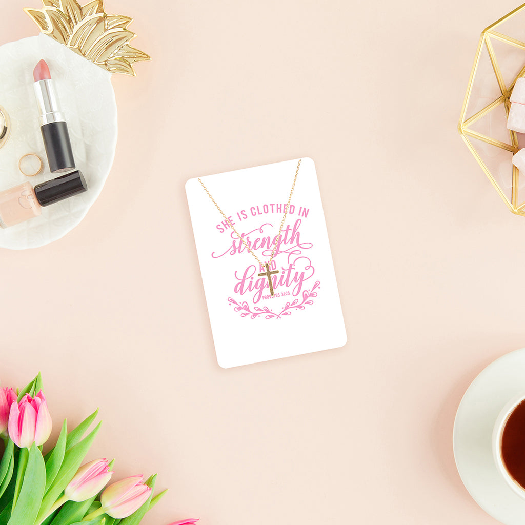 Strength & Dignity Necklace & Keepsake Card
