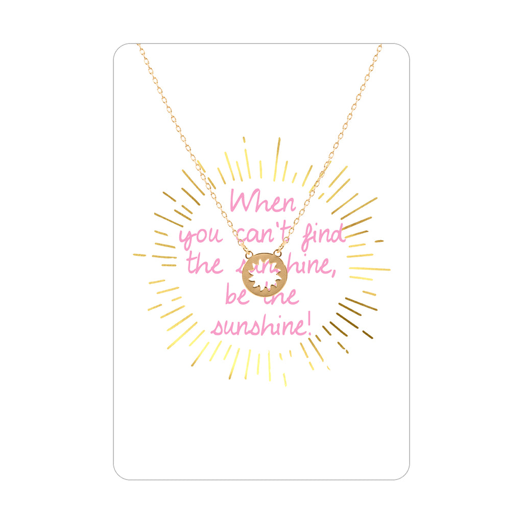 Be the Sunshine Necklace & Keepsake Card