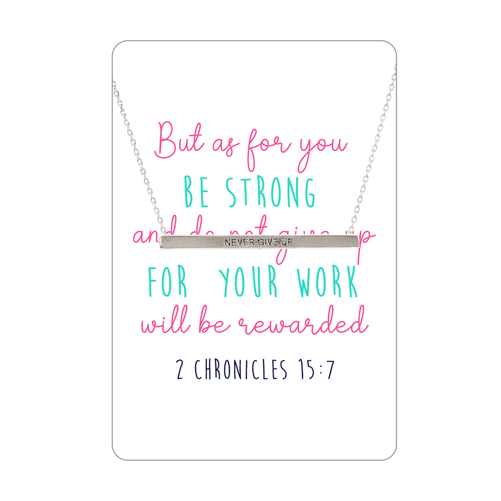 Be Strong Necklace & Keepsake Card