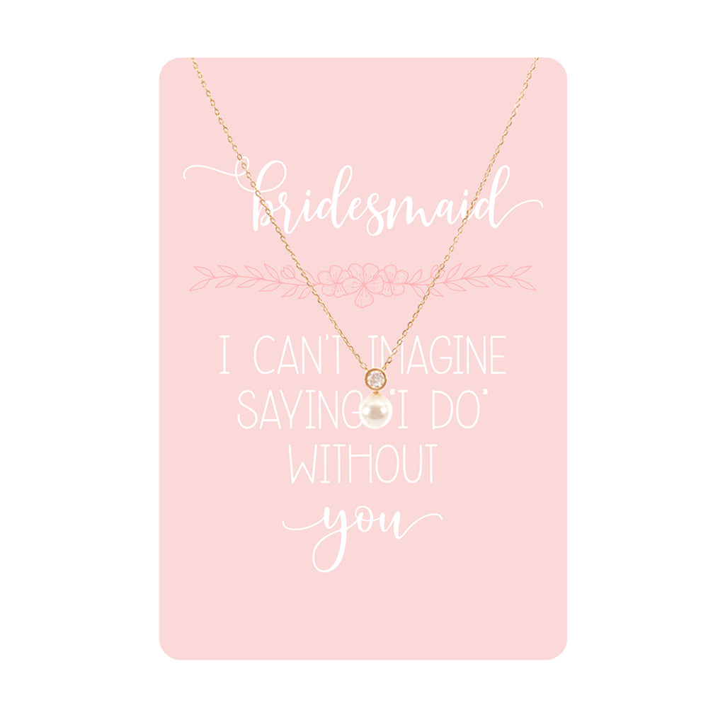 Bridesmaid Necklace & Keepsake Card